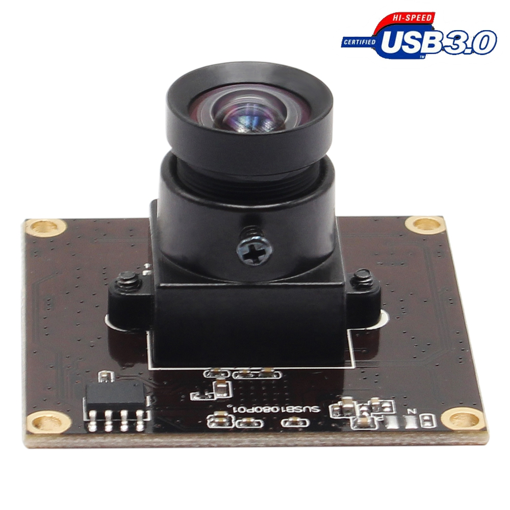 ELP USB 3.0 2MP Sony IMX291 50fps High Speed Camera Module USB 3.0 Industrial with No distortion lens for Video conference